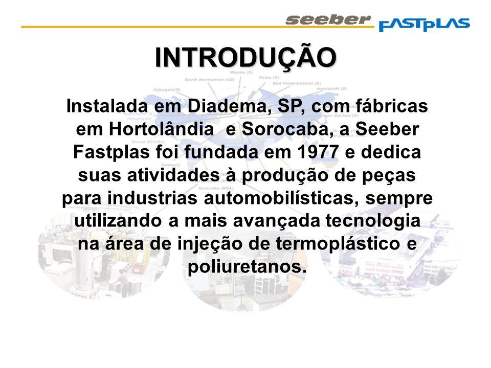 INTRODUÇÃO Instalada em Diadema, SP, com fábricas em Hortolândia e Sorocaba, a Seeber Fastplas foi fundada em 1977 e dedica suas atividades à produção