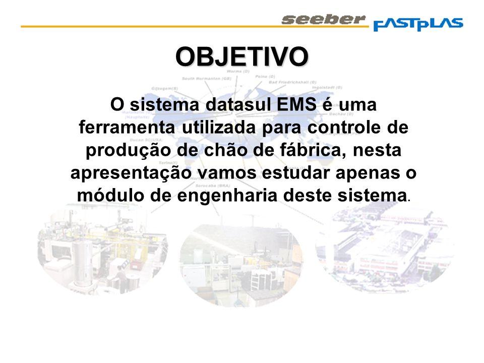 OBJETIVO O sistema datasul EMS é uma ferramenta utilizada para controle de produção de chão de fábrica, nesta apresentação vamos estudar apenas o módu
