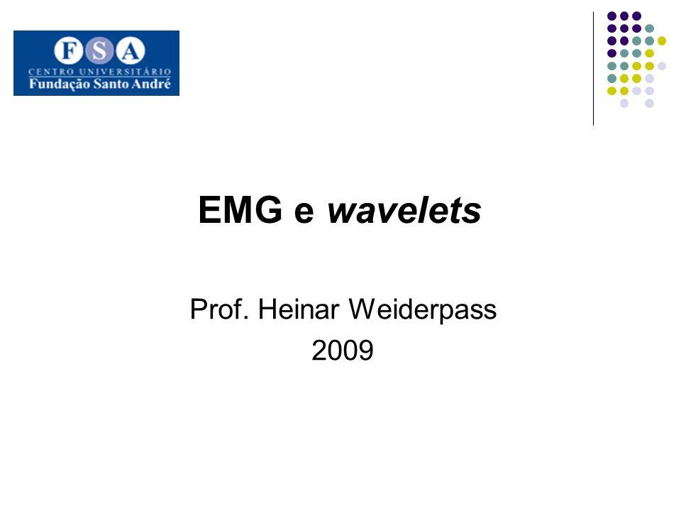 EMG e wavelets Prof. Heinar Weiderpass 2009