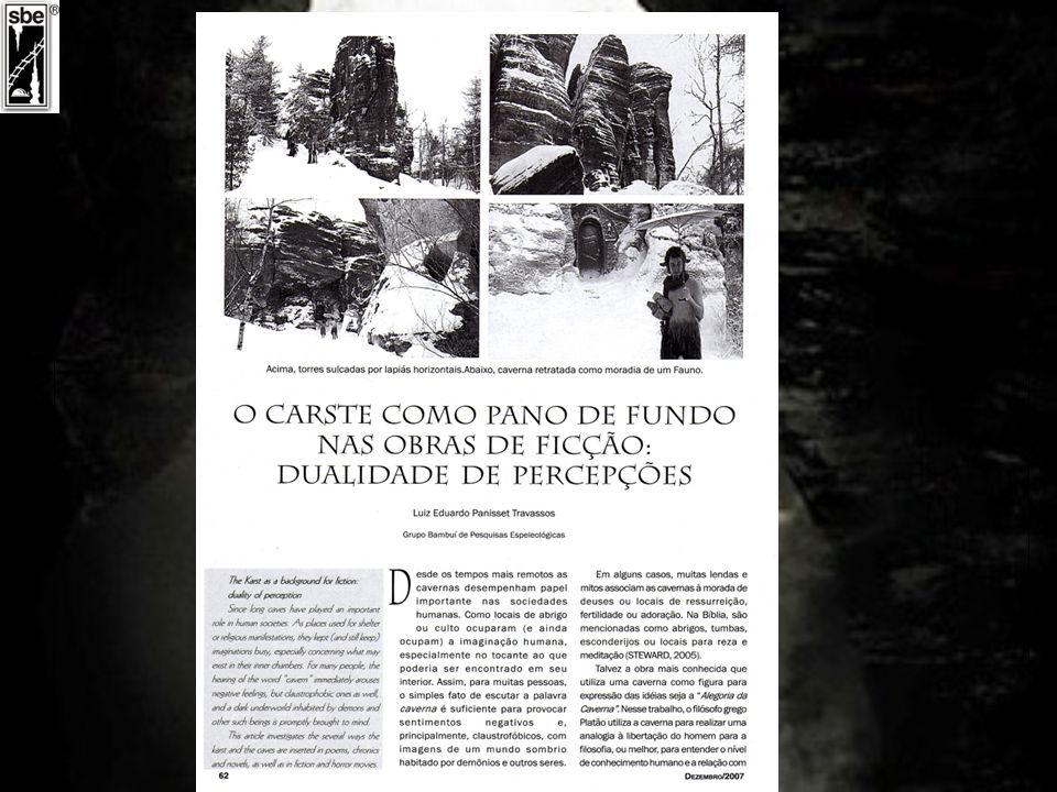 2) Tese de Doutorado em Geografia Física em fase final (Figueiredo, 2009) CAVERNAS COMO PAISAGENS RACIONALES E SIMBÓLICAS E A INVENÇÃO ESPELEOTURISMO UNIVERSIDADE DE SÃO PAULO FACULDADE DE FILOSOFIA, LETRAS E CIÊNCIAS HUMANAS DEPARTAMENTO DE GEOGRAFIA Luiz Afonso Vaz de Figueiredo Orientadora: Profa.