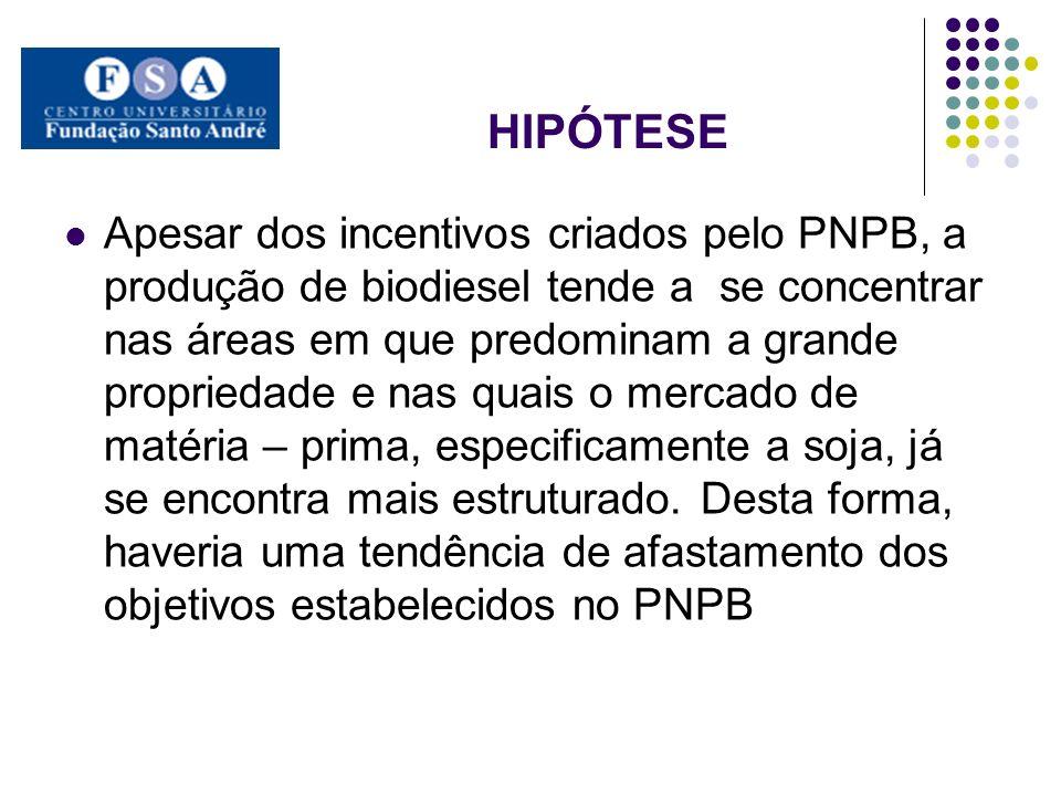 PROCEDIMENTOS E MÉTODOS A avaliação do desempenho do PNPB nas dimensões econômica, ambiental e social permitirá realizar um contraste com a análise da literatura.