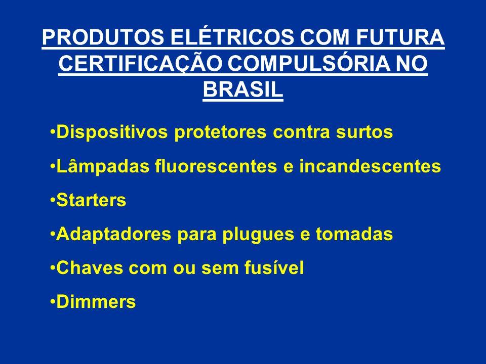 Dispositivos protetores contra surtos Lâmpadas fluorescentes e incandescentes Starters Adaptadores para plugues e tomadas Chaves com ou sem fusível Di
