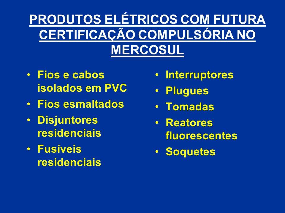 Fios e cabos isolados em PVC Fios esmaltados Disjuntores residenciais Fusíveis residenciais Interruptores Plugues Tomadas Reatores fluorescentes Soque