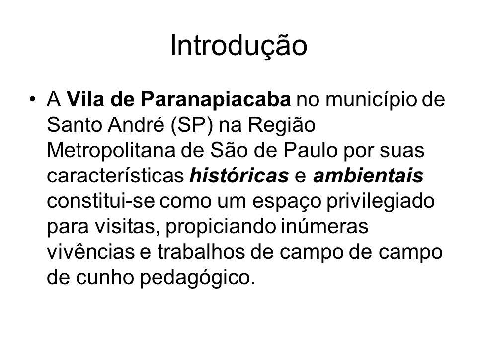 Introdução A Vila de Paranapiacaba no município de Santo André (SP) na Região Metropolitana de São de Paulo por suas características históricas e ambi