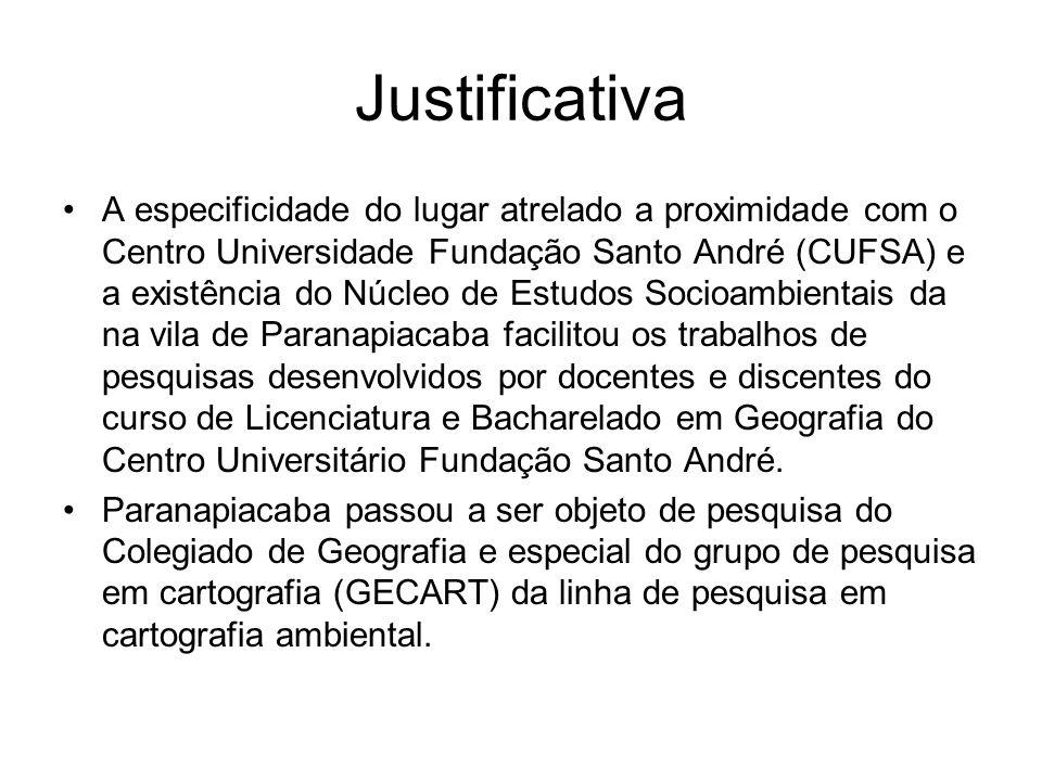 Justificativa A especificidade do lugar atrelado a proximidade com o Centro Universidade Fundação Santo André (CUFSA) e a existência do Núcleo de Estu