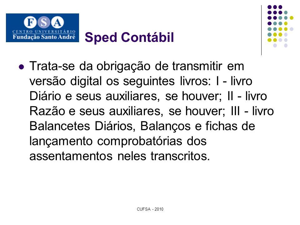 Sped Contábil Trata-se da obrigação de transmitir em versão digital os seguintes livros: I - livro Diário e seus auxiliares, se houver; II - livro Raz