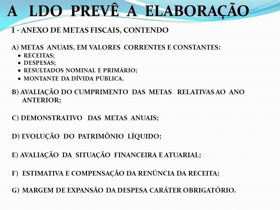 ONDE SERÃO AVALIADOS A) OS PASSIVOS CONTINGENTES; B) OUTROS RISCOS CAPAZES DE AFETAR AS CONTAS PÚBLICAS.