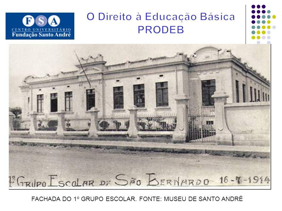 FACHADA DO 1º GRUPO ESCOLAR. FONTE: MUSEU DE SANTO ANDRÉ