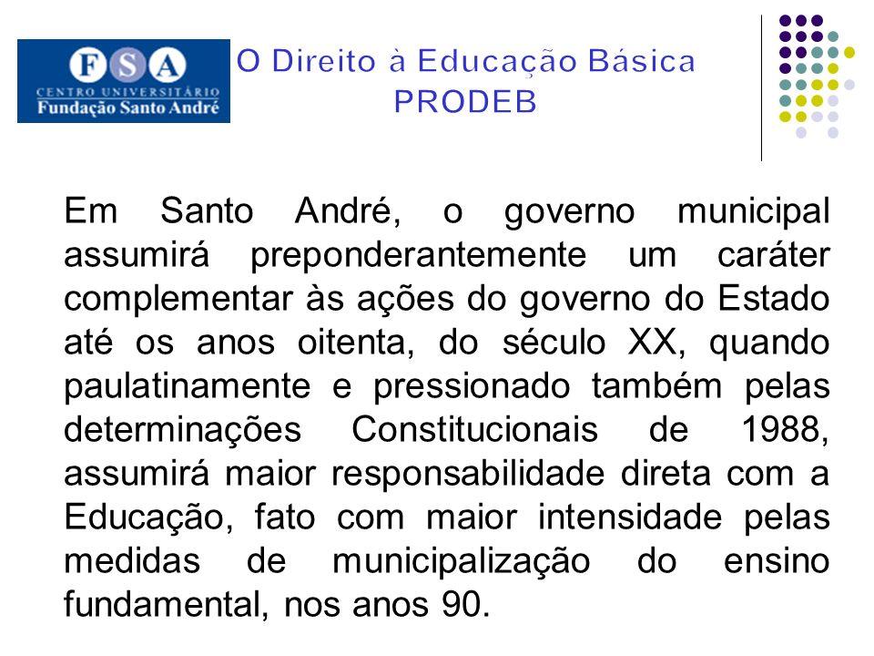 Em Santo André, o governo municipal assumirá preponderantemente um caráter complementar às ações do governo do Estado até os anos oitenta, do século X