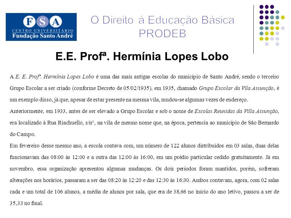A E. E. Profª. Hermínia Lopes Lobo é uma das mais antigas escolas do município de Santo André, sendo o terceiro Grupo Escolar a ser criado (conforme D