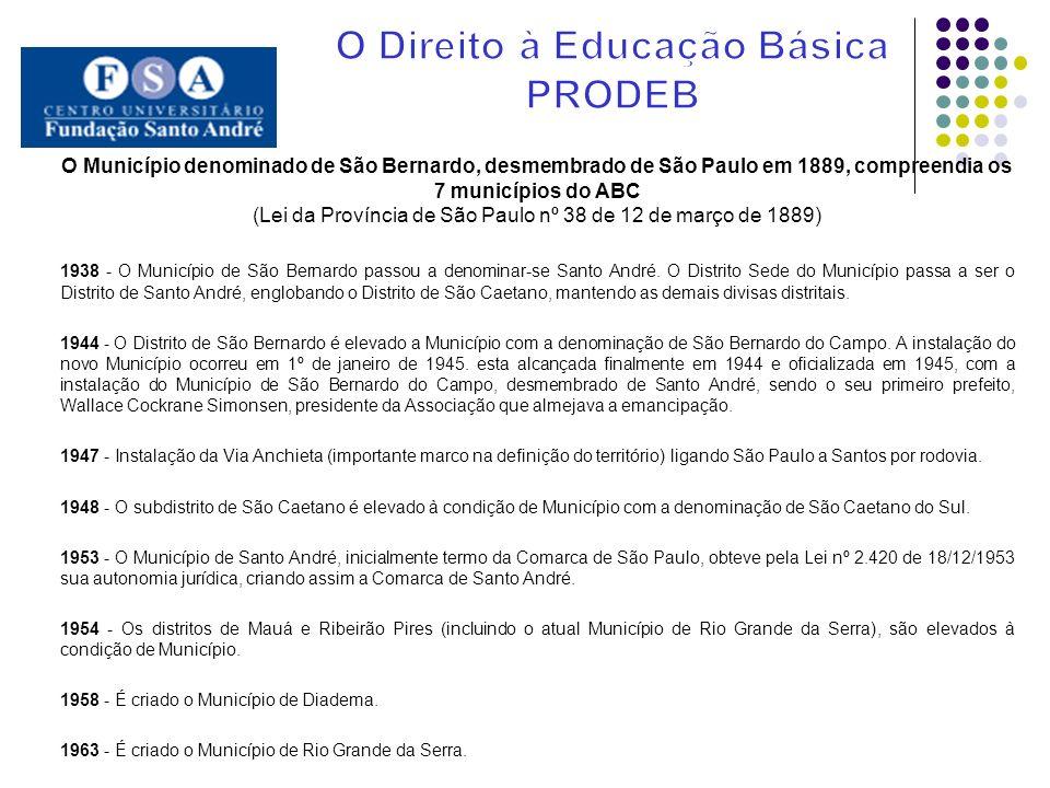 Em 1960 foi criado o FECE FECE (Fundo Estadual de Construções Escolares), que passou a ser responsável pela elaboração, desenvolvimento e custeio do programa de construções escolares no Estado de São Paulo.