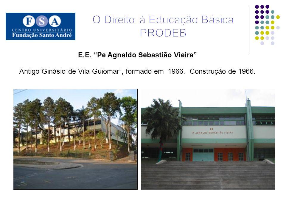 E.E. Pe Agnaldo Sebastião Vieira AntigoGinásio de Vila Guiomar, formado em 1966. Construção de 1966.