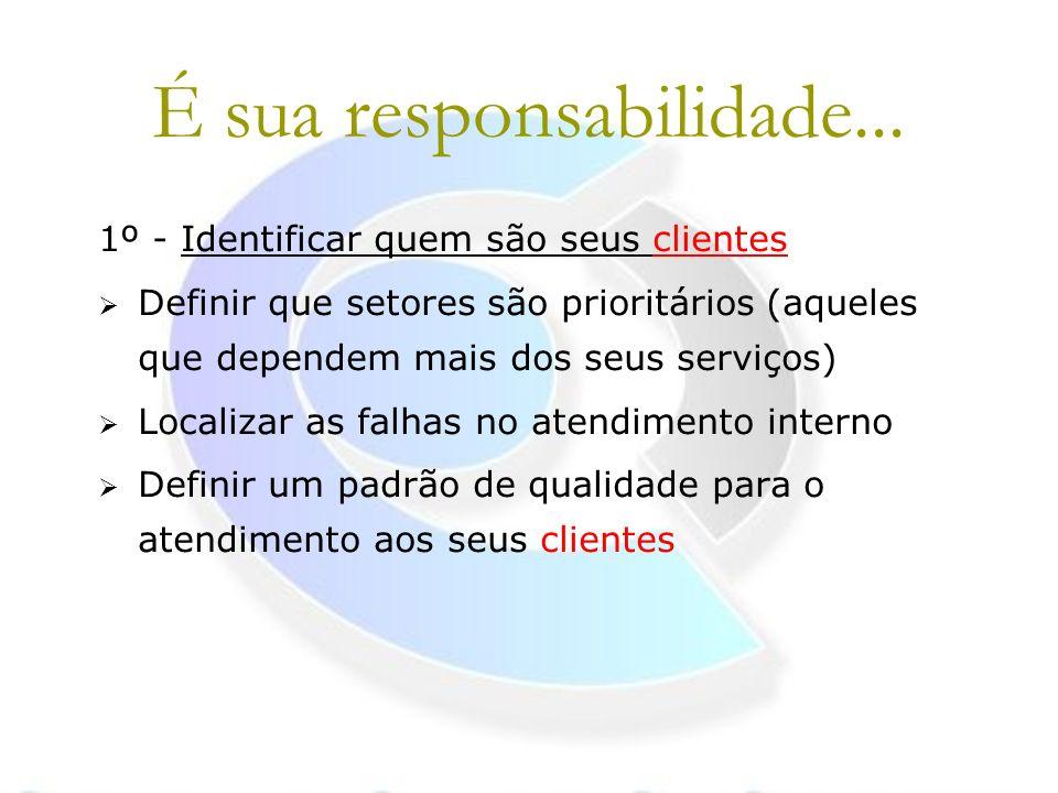 É sua responsabilidade...