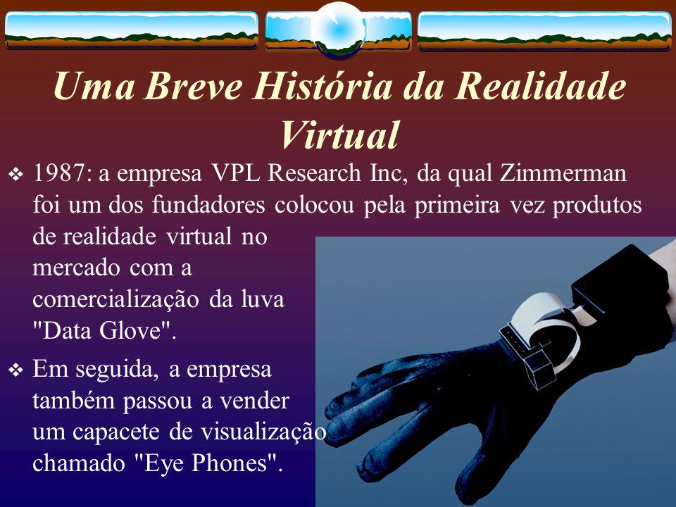 1987: a empresa VPL Research Inc, da qual Zimmerman foi um dos fundadores colocou pela primeira vez produtos de realidade virtual no mercado com a com