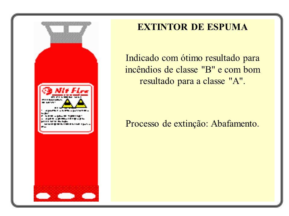 EXTINTOR DE ESPUMA Indicado com ótimo resultado para incêndios de classe