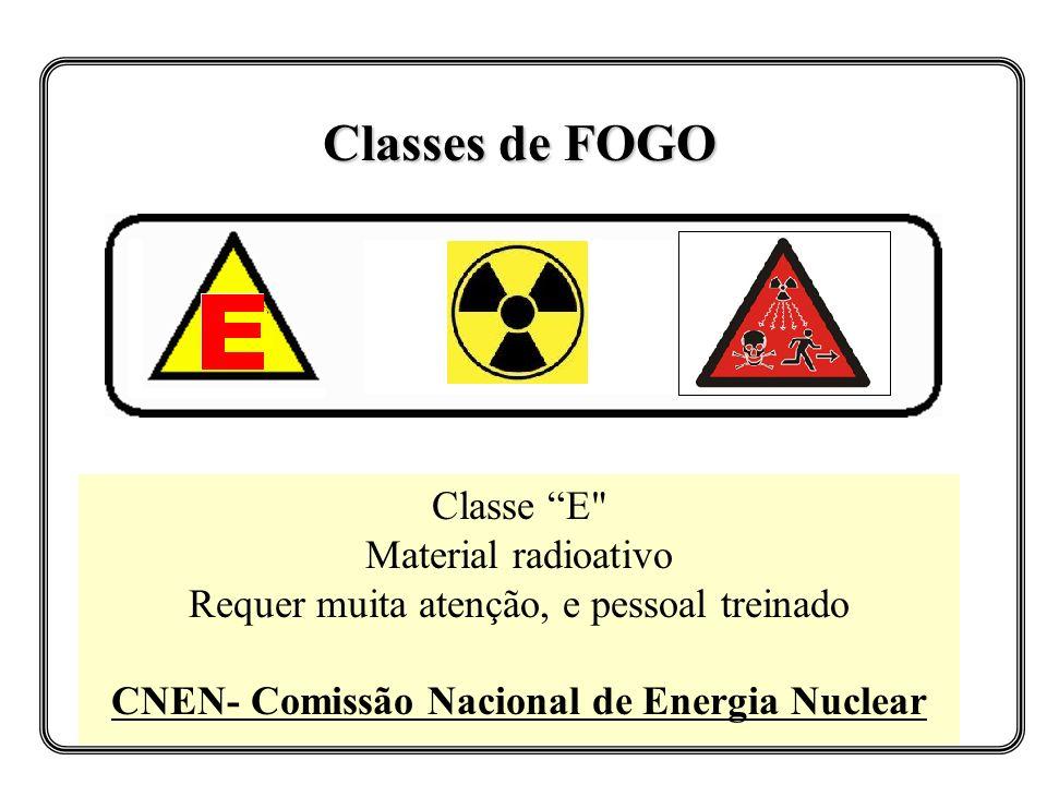Classes de FOGO Classe E
