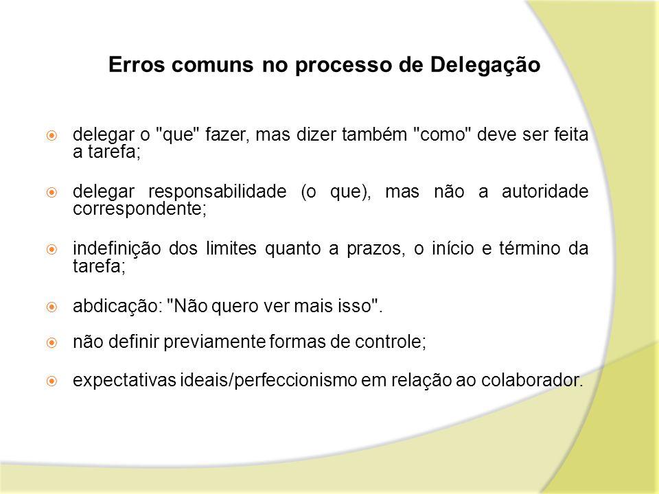 Erros comuns no processo de Delegação delegar o
