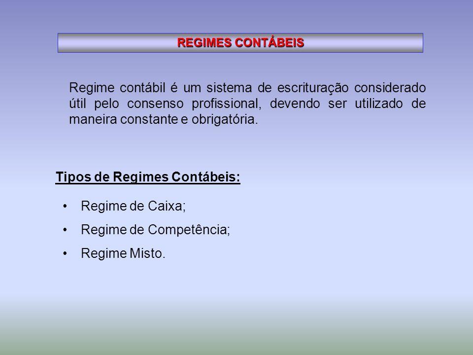 Regime contábil é um sistema de escrituração considerado útil pelo consenso profissional, devendo ser utilizado de maneira constante e obrigatória. RE