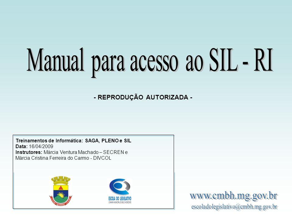 Os Módulos O módulo de Gestão de Usuários (SIL – GU), pelo qual se controla os acessos a todos os módulos de acordo com cada tipo de usuário ou grupo de usuários.