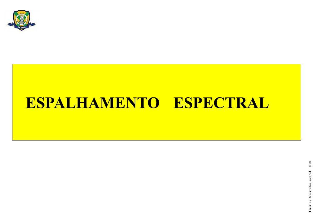 D i r e i t o s R e s e r v a d o s a o C P q D - 1 9 9 9 ESPALHAMENTO ESPECTRAL