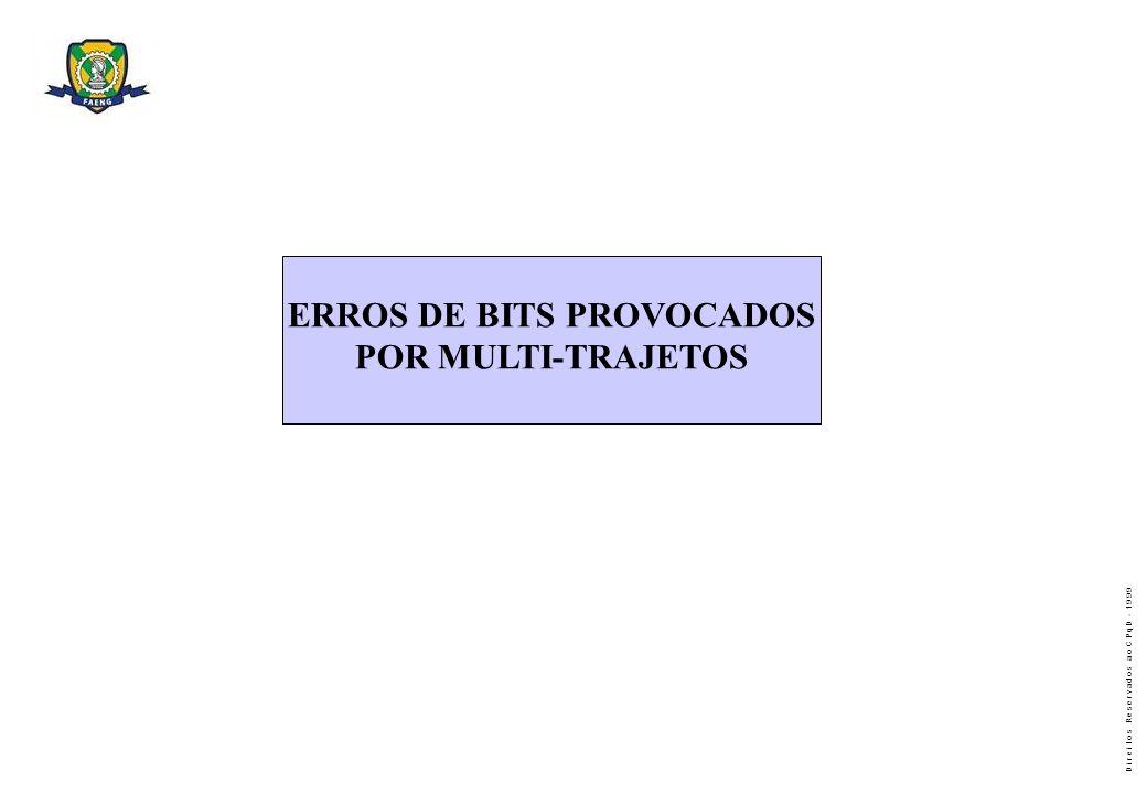 ERROS DE BITS PROVOCADOS POR MULTI-TRAJETOS