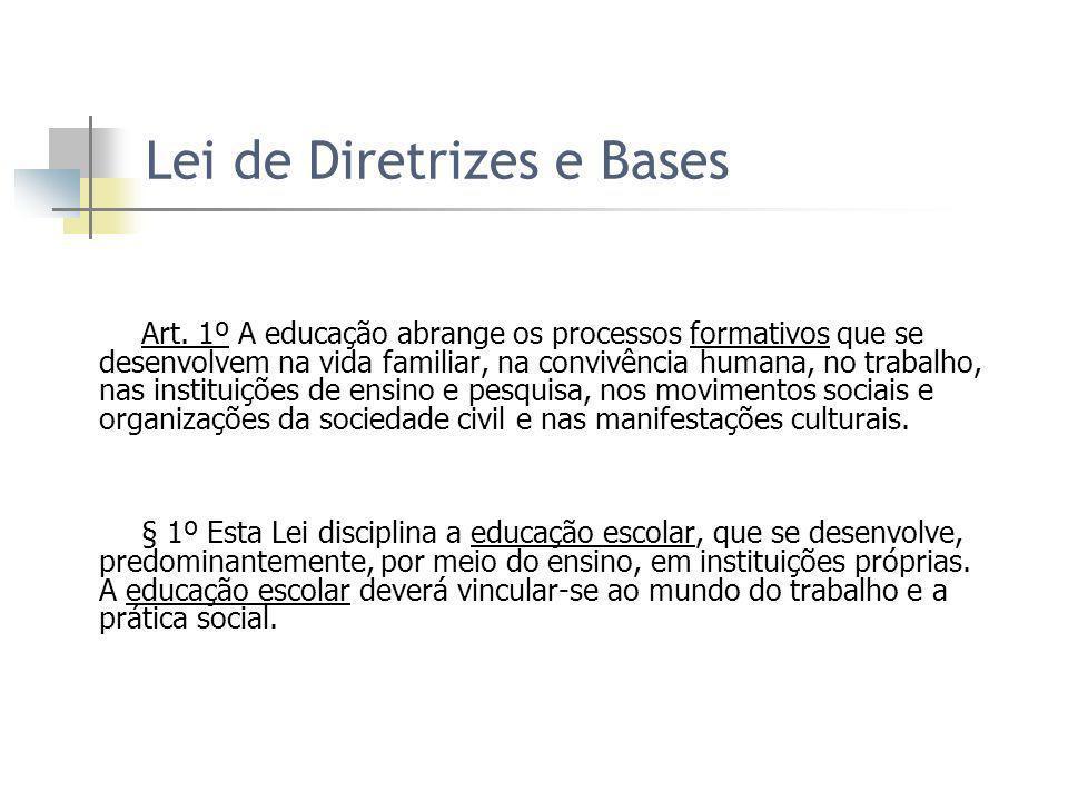 Lei de Diretrizes e Bases Art.