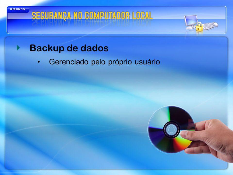 Backup de dados Gerenciado pelo próprio usuário