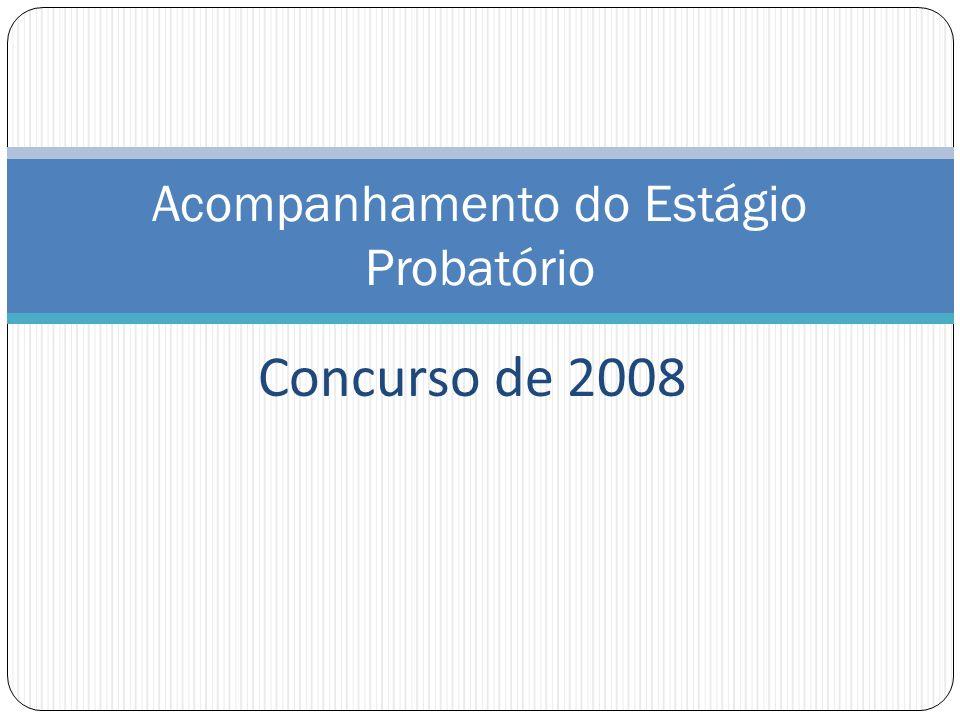 Concurso de 2008 Acompanhamento do Estágio Probatório