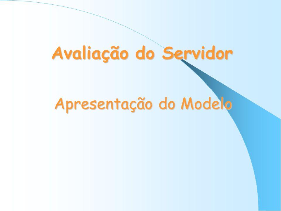 Avaliação do Servidor Apresentação do Modelo