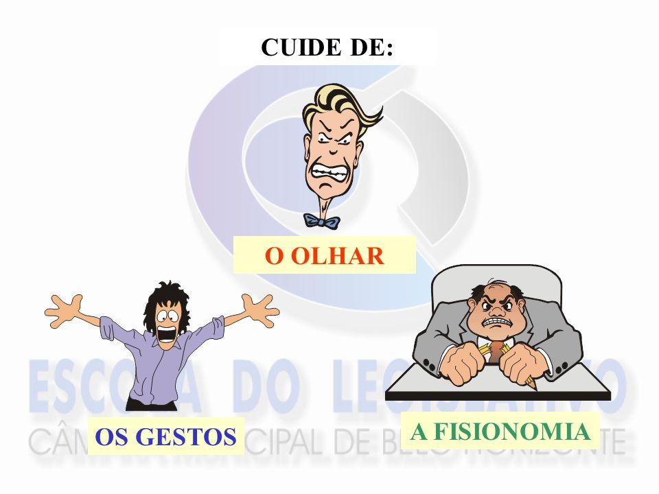 CUIDE DE: O OLHAR OS GESTOS A FISIONOMIA