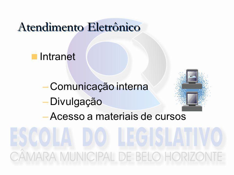 Intranet –Comunicação interna –Divulgação –Acesso a materiais de cursos Atendimento Eletrônico