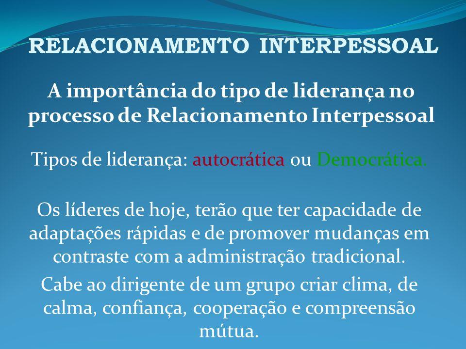 RELACIONAMENTO INTERPESSOAL Para que a comunicação interpessoal seja satisfatória, um elemento de extrema importância é a empatia.