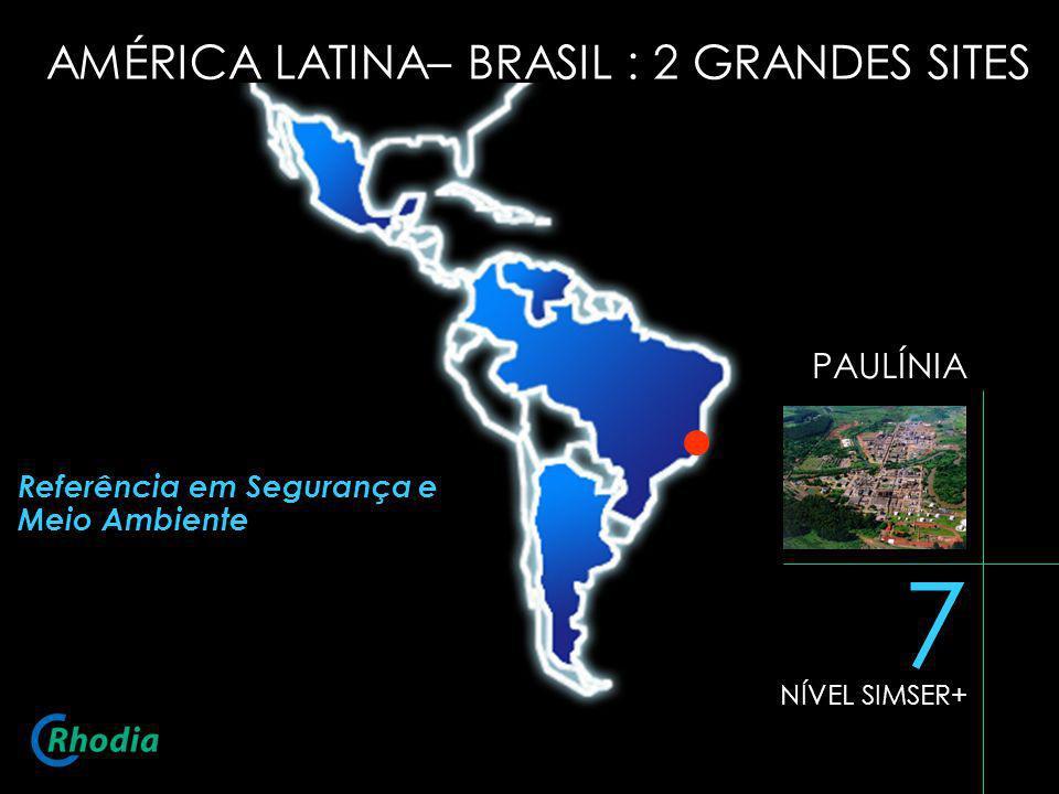 PAULÍNIA 7 NÍVEL SIMSER+ Referência em Segurança e Meio Ambiente AMÉRICA LATINA– BRASIL : 2 GRANDES SITES