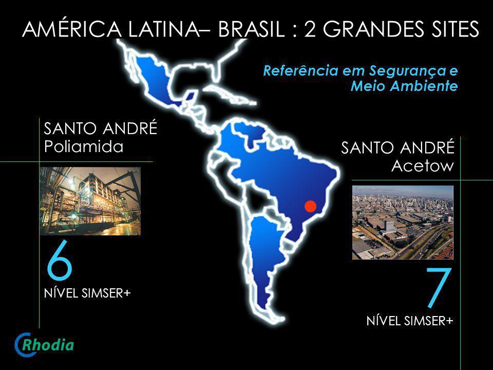7 NÍVEL SIMSER+ SANTO ANDRÉ Acetow 6 NÍVEL SIMSER+ SANTO ANDRÉ Poliamida AMÉRICA LATINA– BRASIL : 2 GRANDES SITES Referência em Segurança e Meio Ambie