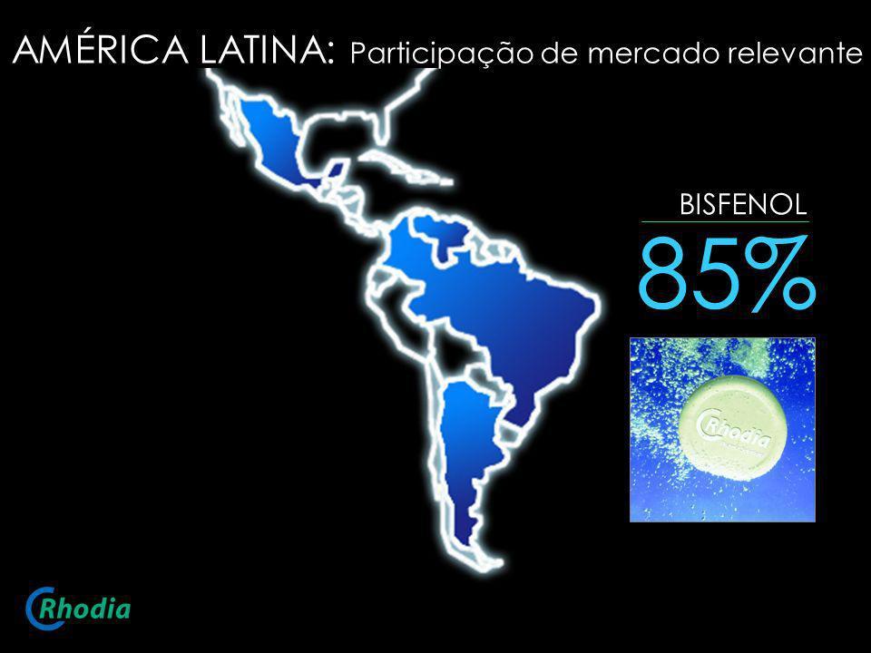 BISFENOL 85% AMÉRICA LATINA: Participação de mercado relevante