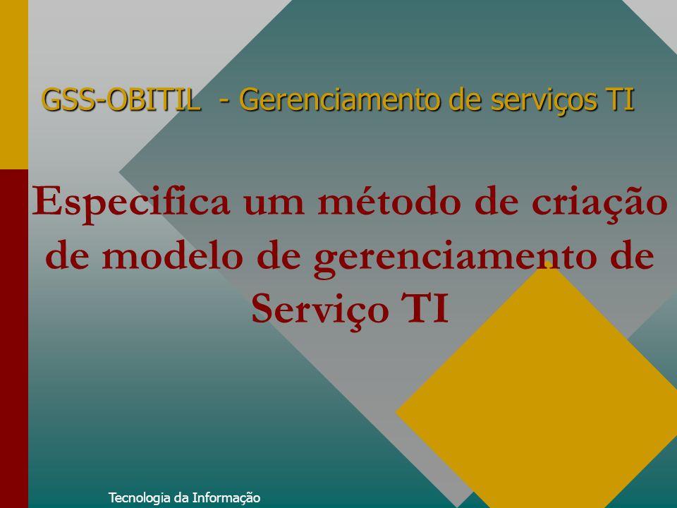 GSS-OBITIL - Gerenciamento de serviços TI Tecnologia da Informação Especifica um método de criação de modelo de gerenciamento de Serviço TI