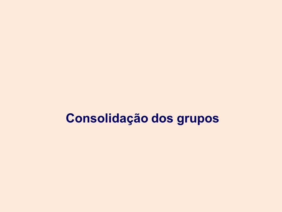 Consolidação dos grupos