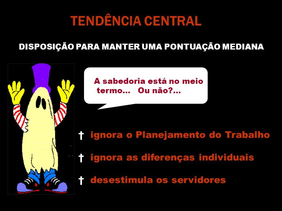 TENDÊNCIA CENTRAL DISPOSIÇÃO PARA MANTER UMA PONTUAÇÃO MEDIANA A sabedoria está no meio termo...