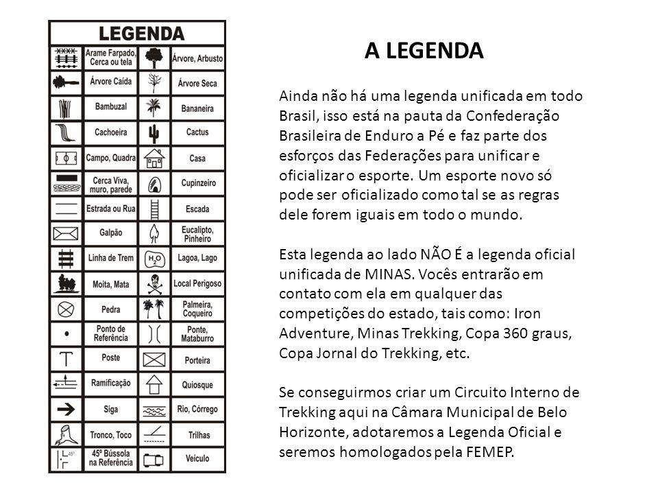 Ainda não há uma legenda unificada em todo Brasil, isso está na pauta da Confederação Brasileira de Enduro a Pé e faz parte dos esforços das Federaçõe