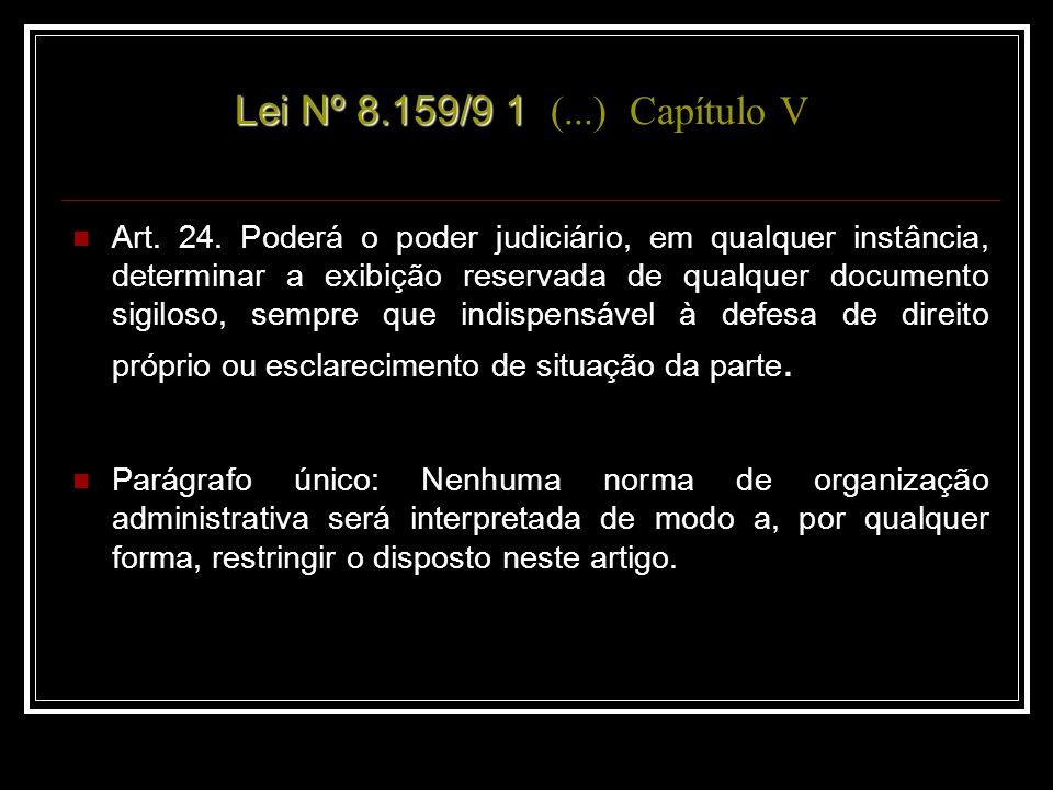 Lei Nº.5.899/1991 – Dispõe sobre a política municipal de arquivos públicos e privados.