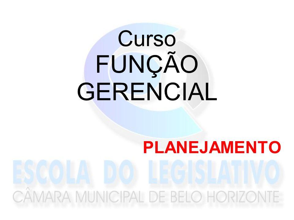 Curso FUNÇÃO GERENCIAL PLANEJAMENTO