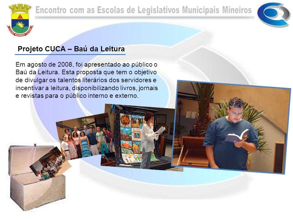 Em agosto de 2008, foi apresentado ao público o Baú da Leitura.
