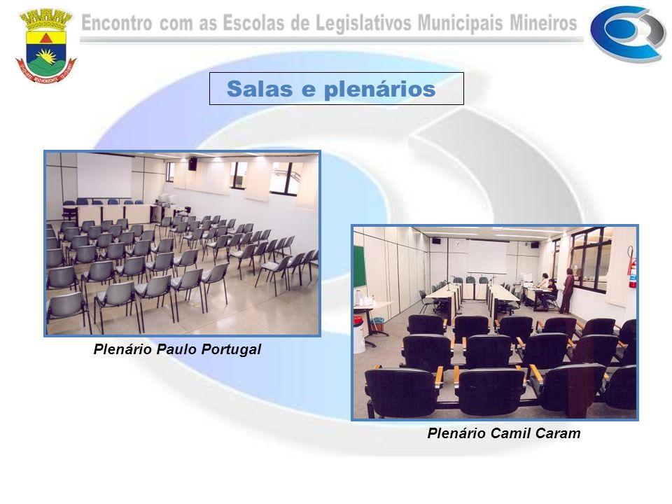 Salas e plenários Plenário Paulo Portugal Plenário Camil Caram