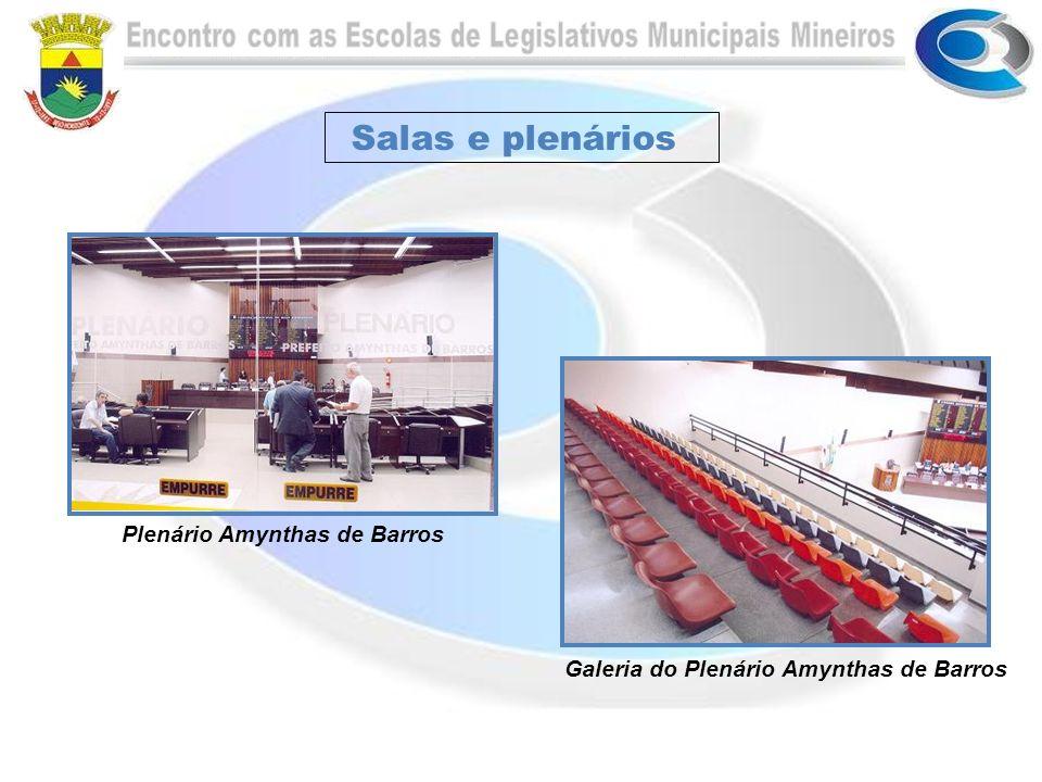 Salas e plenários Secretaria da Escola do Legislativo Gerência da Escola do Legislativo