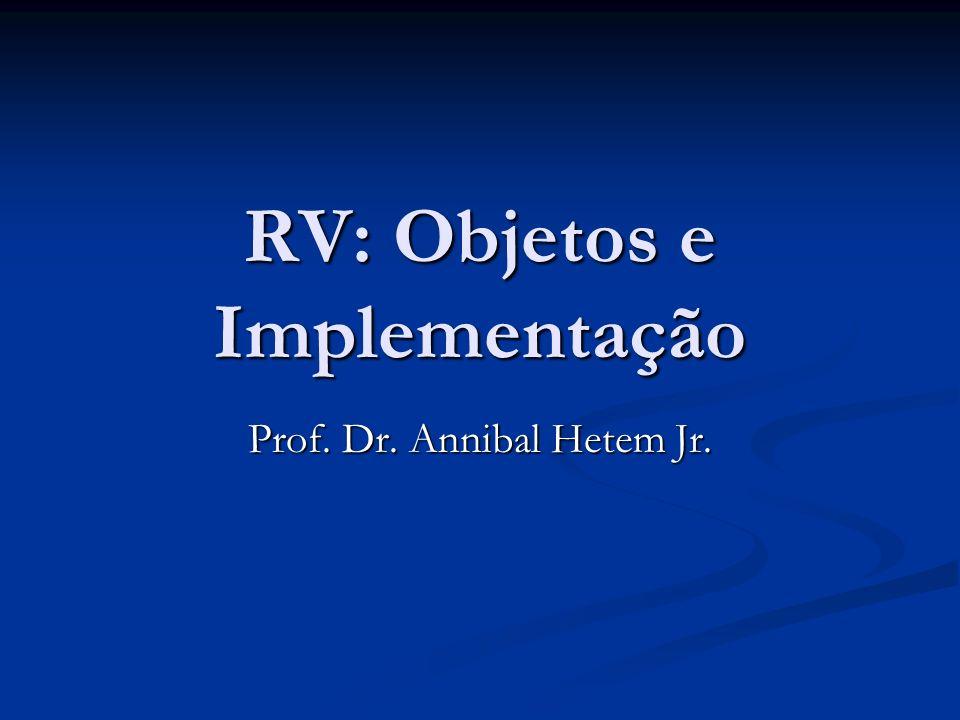 Programação de RVs Ainda não existem no mercado ferramentas específicas para o desenvolvimento de RVs.