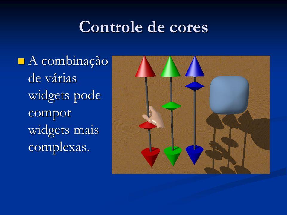 Controle de cores A combinação de várias widgets pode compor widgets mais complexas.