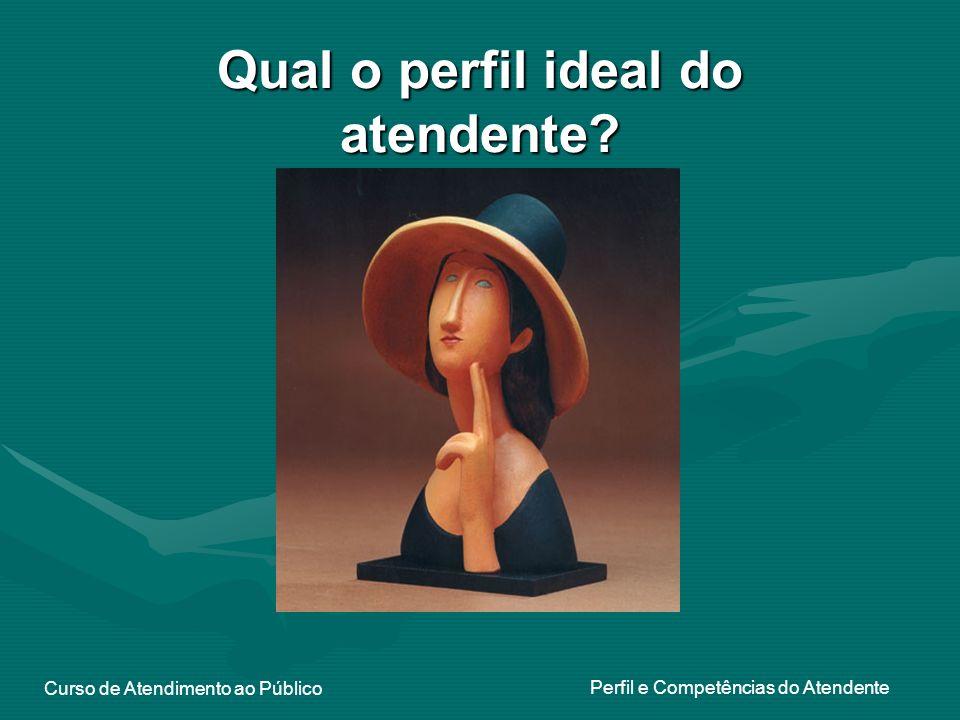 Curso de Atendimento ao Público Perfil e Competências do Atendente Qual o perfil ideal do atendente?
