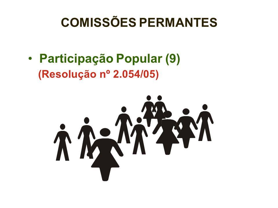 Participação Popular (9) (Resolução nº 2.054/05) COMISSÕES PERMANTES