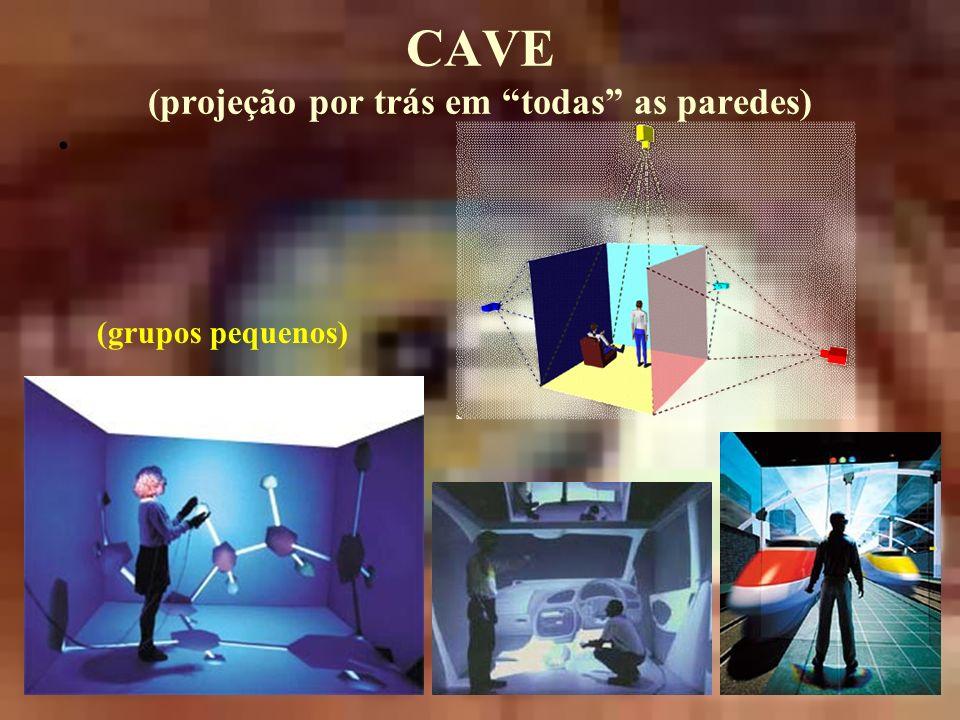 CAVE (projeção por trás em todas as paredes) (grupos pequenos)
