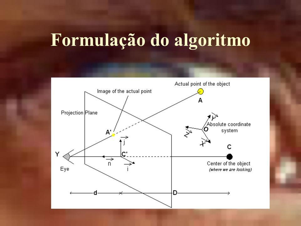 Formulação do algoritmo
